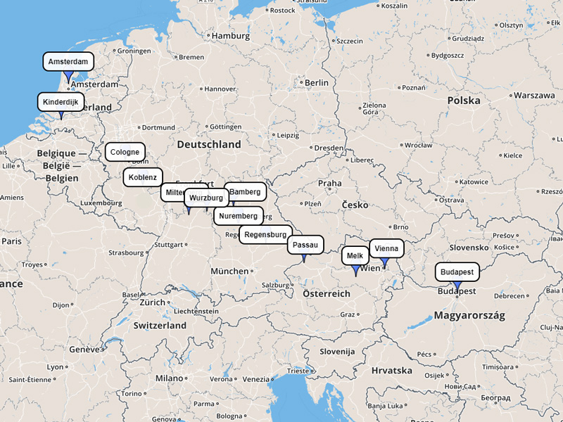 Viking Rhine 15-day route