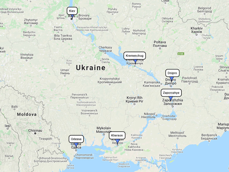 Viking Dnieper 11-day route